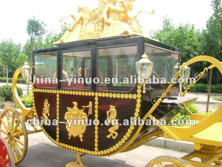 Big size romantic royal horse carriage for sale/wedding royal carriage