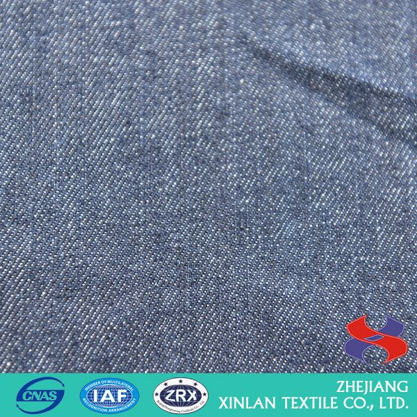 Latest custom design organic cotton fabric denim with many colors