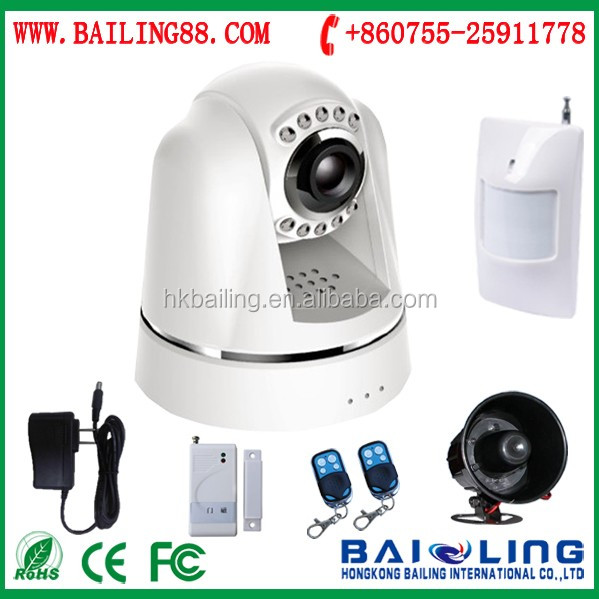 cctv camera gsm alarm 3G WCDMA smart home security alarm system support sms mms email video calls
