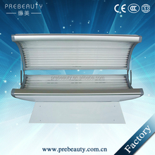 Factory price portable homeuse tanning bed/solarium tanning bed with white/blue/black color