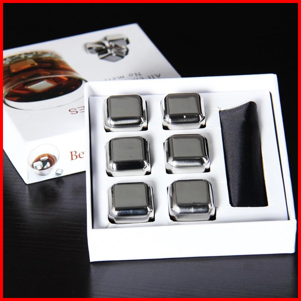 High quality <strong>Wine</strong> Whiskey Stones 304 Stainless whisky ice stones Ice cube