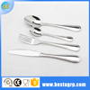 Stainless steel cutlery set in machine polish