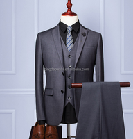 classical grey 3 pieces coat pants new design picture breathable high class formal office dress custom tailored men suit wedding