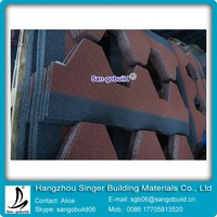 Red Mosaic Asphalt Shingle/roofing tile Hot Sale In Asia