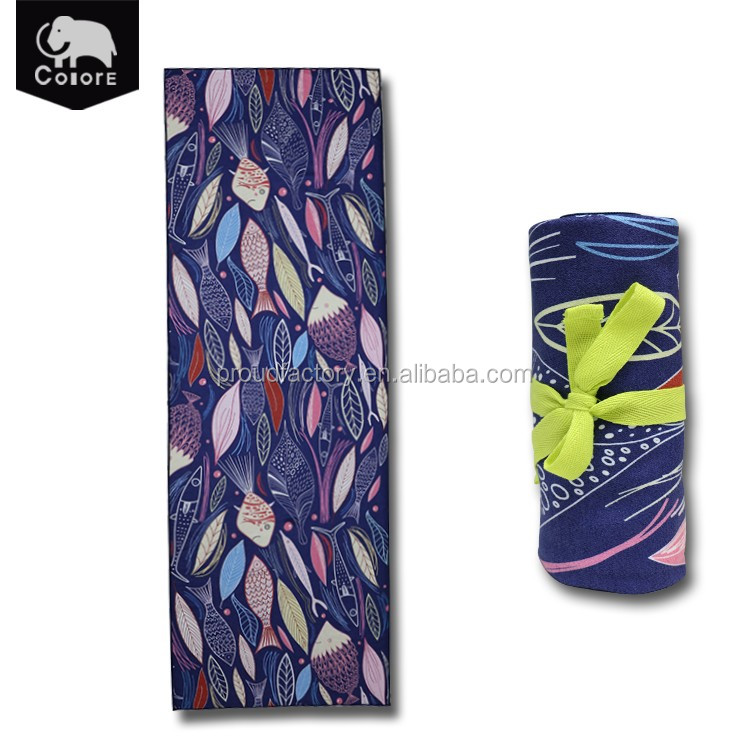 China manufacturer quick dry bikram mat towel for hot yoga