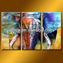Latest designs elephant old painting art supplies painting on canvas