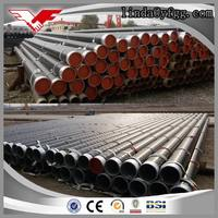 Bevel on both ends epoxy coating ERW Welded low carbon Steel Tube and Round Pipe