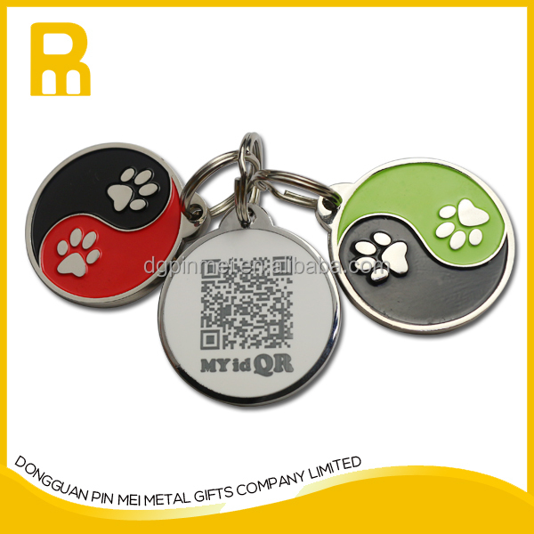 2015 Be Unique !!! free mould zinc alloy new enamel smart tag pet id for pets