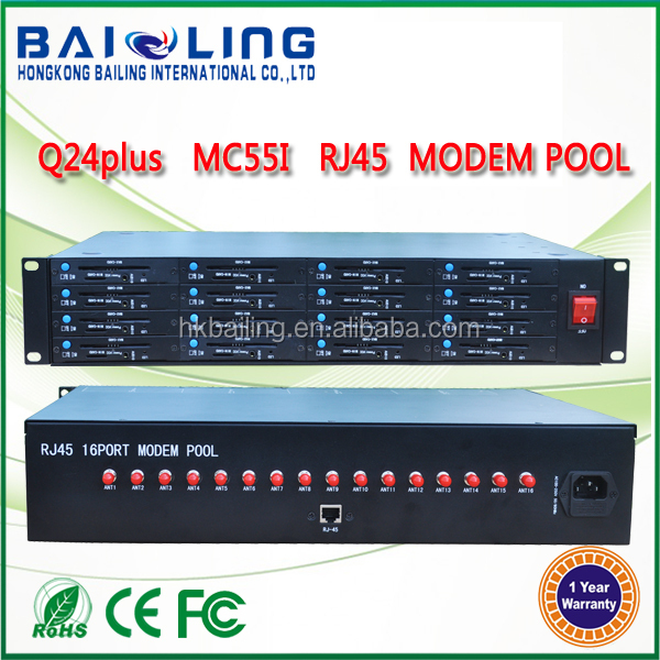 Newest USB OR RJ45 2U cabinet 16 port modem pool GSM Mobile recharge sms modem pool tcp/ip GSM modem