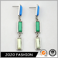Oblong faceted acrylic stones Earrings For Female