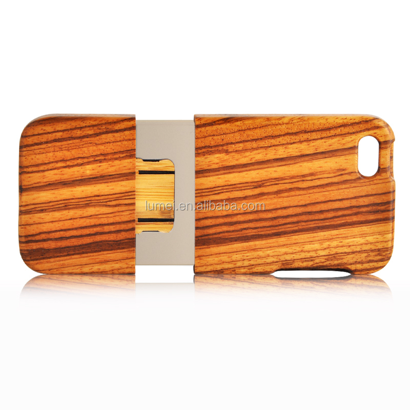 New Design Wooden Protective Back Case Cover for iPhone 6