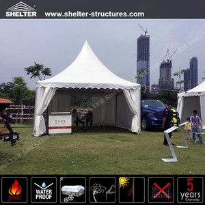 Outdoor PVC fabric covers pagoda gazebo canopy marquee tents with aluminum frame for Car show in China