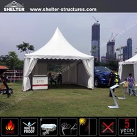 Outdoor aluminum frame pagoda marquee PVC fabric covers gazebo tents accessories canopy tent for Car show in China