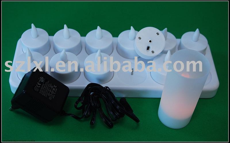 Rechargeable <strong>LED</strong> Tea Light / 12 PCS a set rechargeable <strong>LED</strong> tealight candle