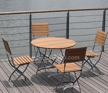 Commercial patio industrial vintage wood top set iron metal leg european style dining sets(IF-1004)