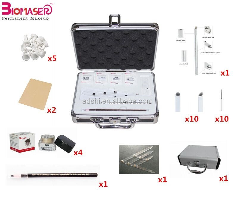 Hot Selling Manual Eyebrow Embroidery Semi Permanent Makeup Pen Microblading Tools Kit