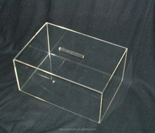 Countertop durable clear acrylic candy box wedding plexiglass candy box for retail store
