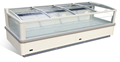 E7 CALIFORNIA ISLAND FREEZER with sliding glass cover