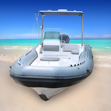 RIB760 CE certified China rib boat with hypalon or pvc tube material for sale