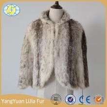 luxury Light and comfortable Newest design animal knitted mink fur coat jackets ladies