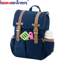 Unisex lightweight travelling baby bags casual durable canvas diaper backpack