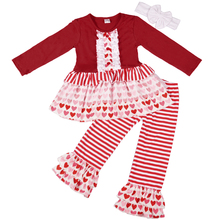 wholesale chinese new year style baby girl ruffle boutique clothing