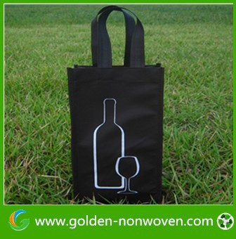 6 bottle non-woven wine tote bag