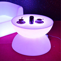 Hot Sale Plastic Illuminated Portable Bar Table Round Glowing LED Coffee Table