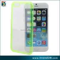 new products frosted surface back tpu+pc cover for iphone 6
