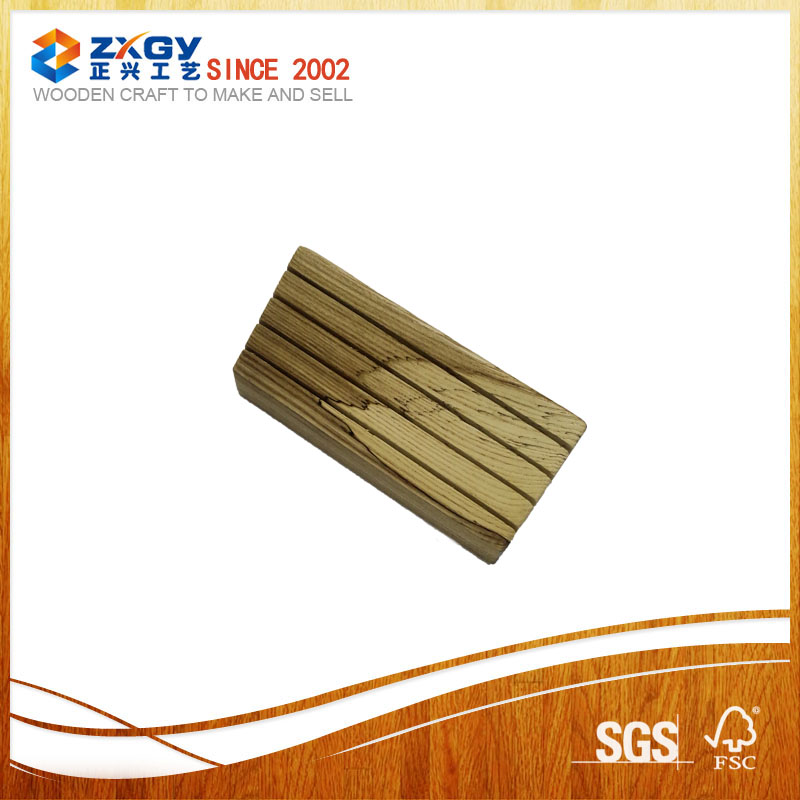 High quality fashion square oak wooden base for card