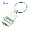 Hot sell OEM shaped opener craft key holder Custom Zinc alloy Bottle Opener Key Ring