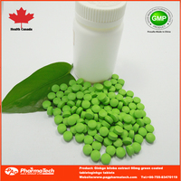 GMP certified 60mg Ginkgo Biloba tablets,contract manufacturing factory