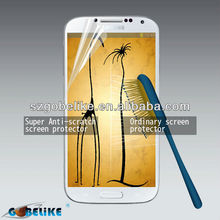 New Japan Super Anti-scratch clear screen protector for Samsung I9500 Galaxy S4