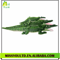 Hot Selling Holiday Gift Stuffed Green Crocodile Animal Toy