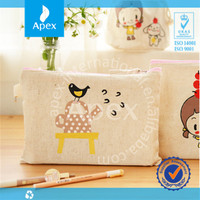 2014 hot sale custom printed cotton pencil bag