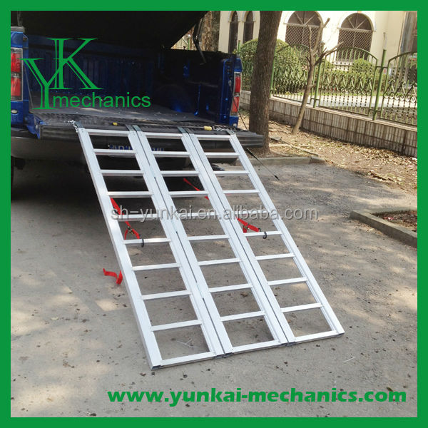 "Aluminum Tri Folding Motorcycle/Truck Loading Ramp - 5'9"" & 6'5"" Long"