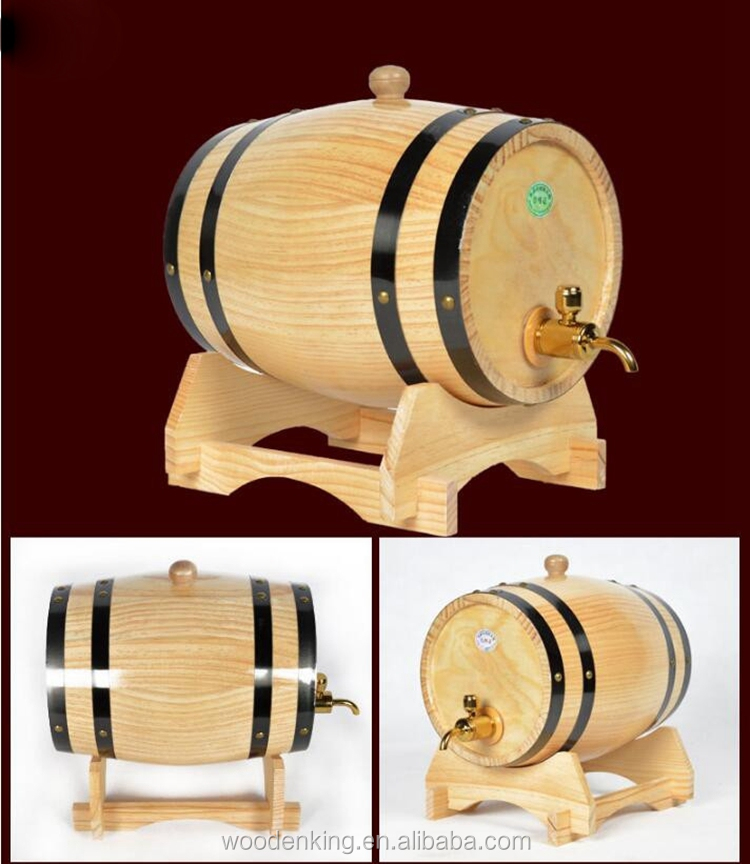 Factory Supply A Large Number Of Spot Wholesale Processing Bar Craft Oak Pine Curtain Wood Wooden Wine Barrel