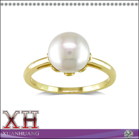 14K Yellow Gold Cultured Freshwater Pearl Ring