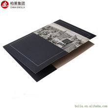 New Design Business Cheap Black Pockets Presentation Folder