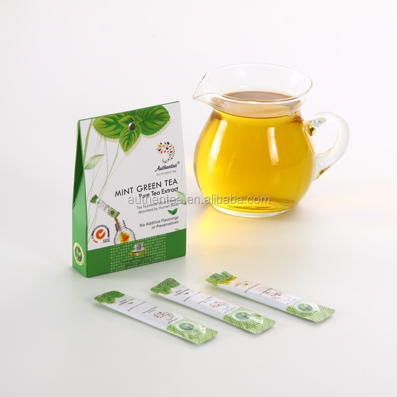 Mint Green Tea Leaves Herbal Tea Extract Crystal Powder with Clear Tea Soup