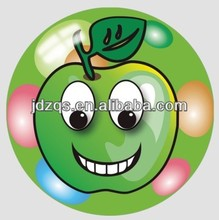 "9"" inflatable toy balls plastic full printing ball --Apple printing"