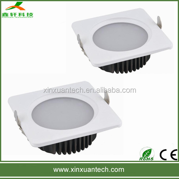 Hot selling square 230mm cut hole 210mm led down lights 5w 9w 15w 18w 24w SMD