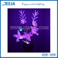 Holiday/Party LED Fiber Optic Lily Orchids Flower Decoration Light