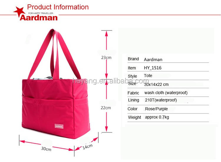 waterproof nylon adult portable baby diaper bag