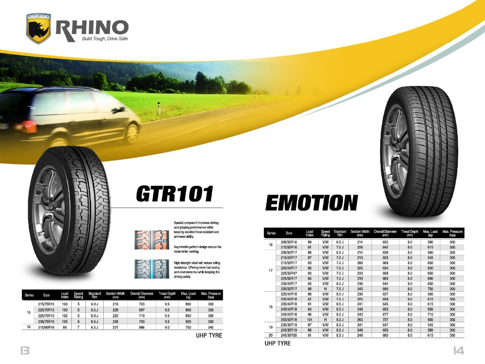 PCR TYRE PASSENGER CAR TYRE,RHINO PCR TIRE CHINA CAR TYRE, UHP SUV TIRE