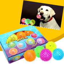 Dog Toy Spiky Bounce Balls With Light For Dogs Squeaky Toys Wholesale Pet Toys Pet Products