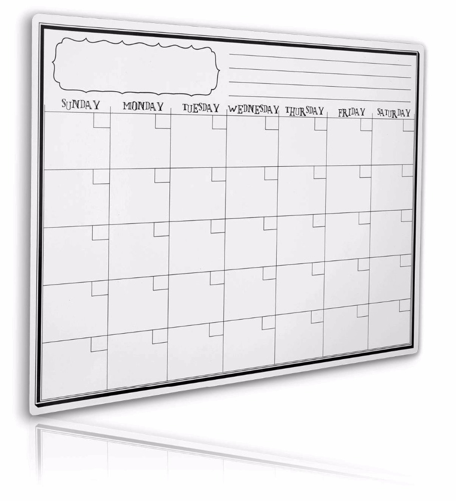 Magnetic Calendar for Refrigerator Monthly Dry Erase Calendar Magnet Fridge Planner Write and Wipe Message Board