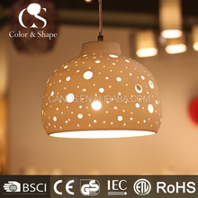 Good taste home lighting round porcelain ceiling lamp