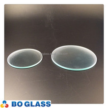China factory clear color glue chip pattern glass design