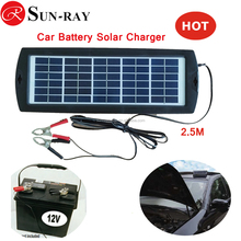 Popular Solar Trickle Car Charger with 3W 12V Battery Charger For Cars, Boats, Trucks, Motorcycle Vehicle